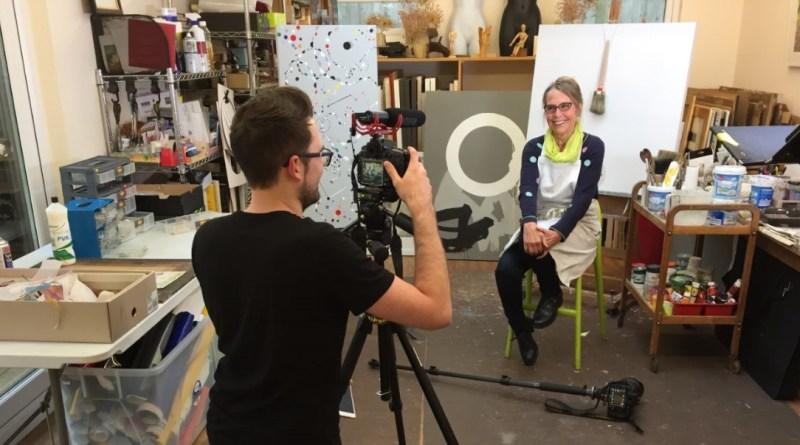 Libby January in her studio