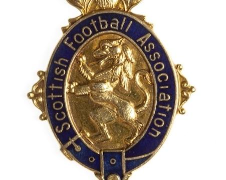 Footballer Derek Johnstone's medal