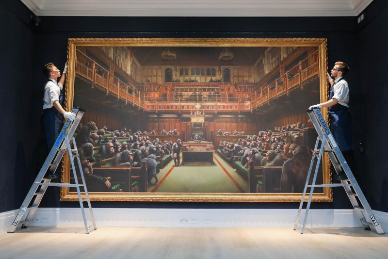 The world record Banksy painting