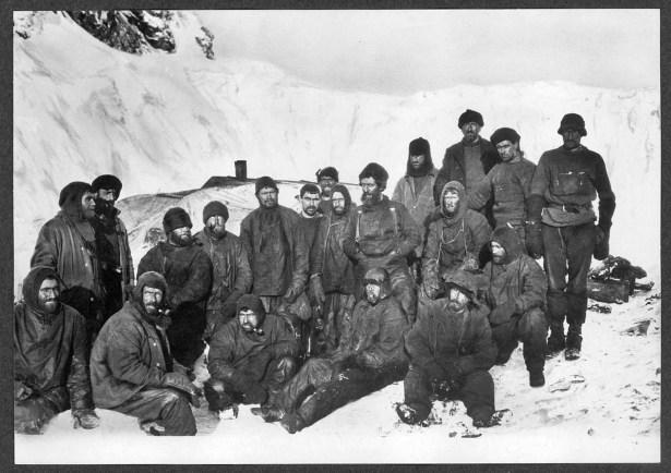 Frank Wild among the polar expedition team