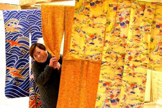 Masayo Long with her kimonos
