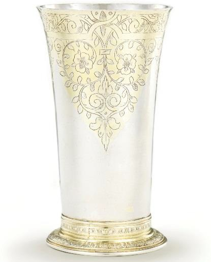 James I parcel-gilt silver beaker from the David Little Collection