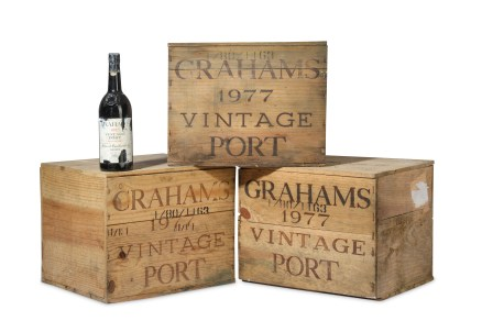 Crates of Queen Mother's port