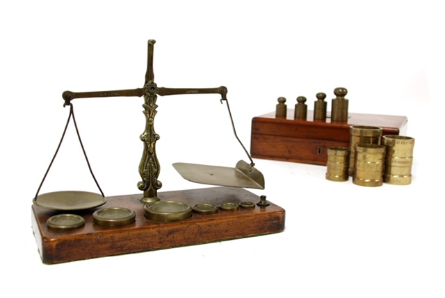 A pair of antique scales