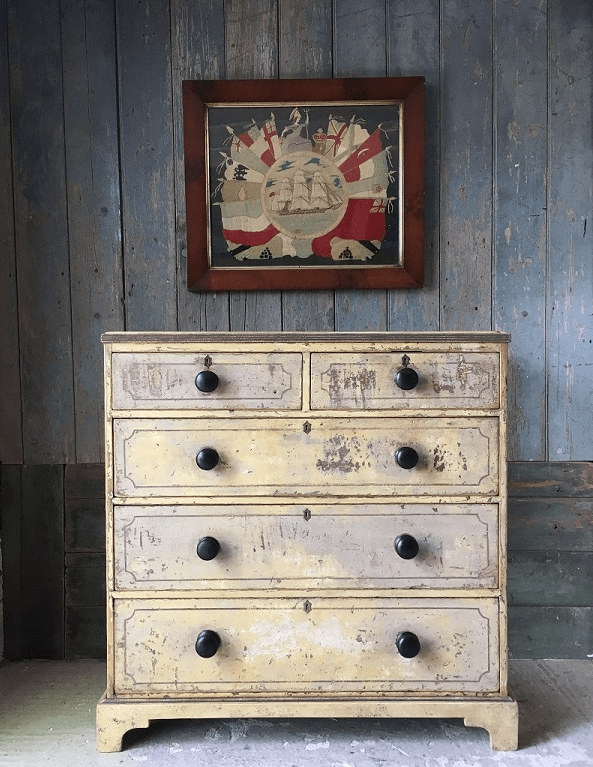Antique chest in Marc's shop