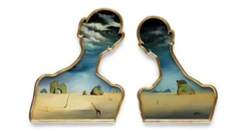 Salvador Dali's Couple aux têtes pleines de nuages