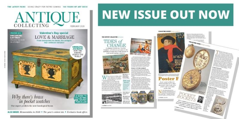 Latest February 2020 issue of Antique Collecting magazine