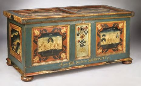 An antique marriage chest