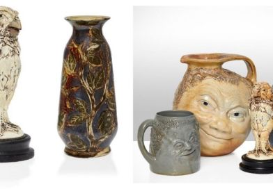 A collection of Martinware in Roseberys sale