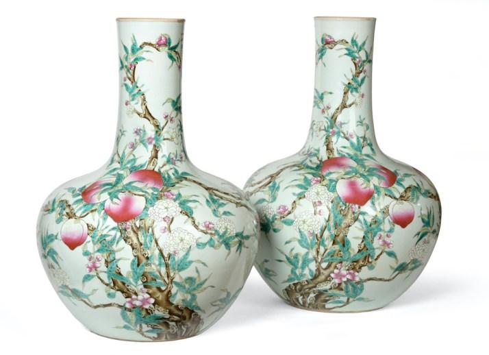 Nine Peach vase