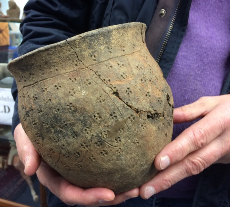 Anglo-Saxon pottery found at the site - credit Hansons