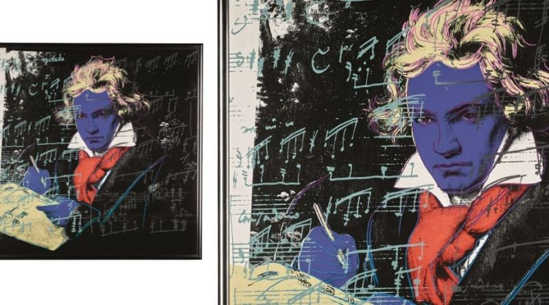 Screenprints of Beethoven by Andy Warhol