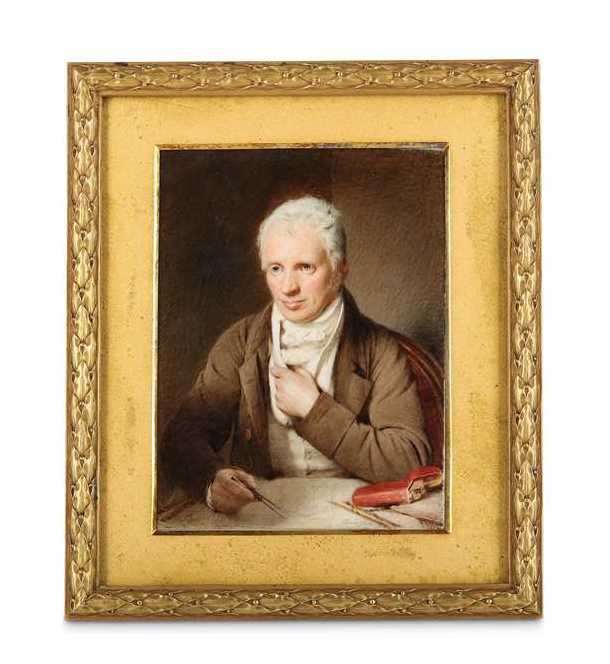 a portrait miniature of Edward Smyth the architect