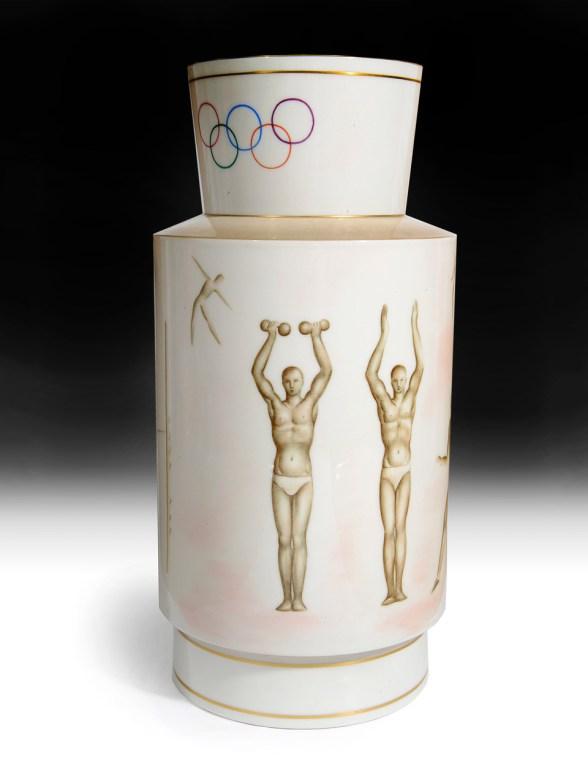 The Oympic Sèvres'Athlétisme' art deco vase in the sale