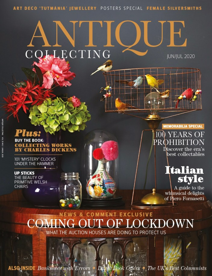 June-July 2020 cover of Antique Collecting