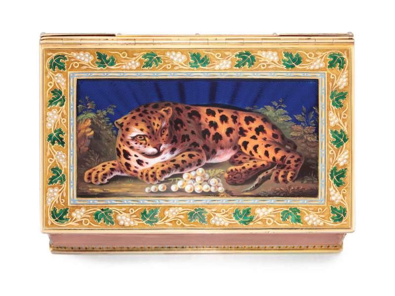 Temple' snuff box made in 1807-1808 by the Geneva goldsmith Phillipe Sené and Henri Neisser