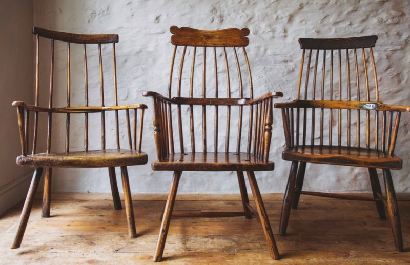 Three 18th-century Welsh 'comb-back' stick chairs
