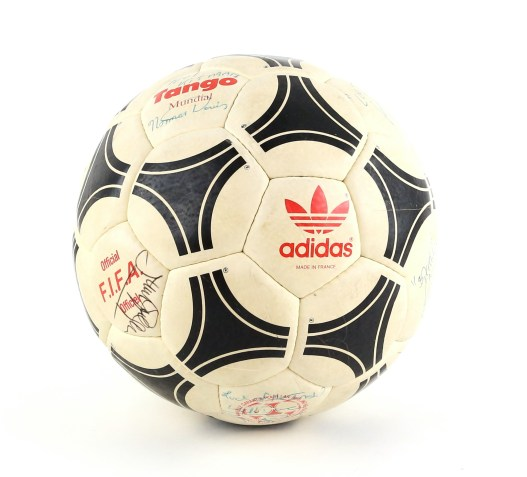 The Adidias Tango Mundial official football from the Manchester United v West Ham FA Cup 6th round