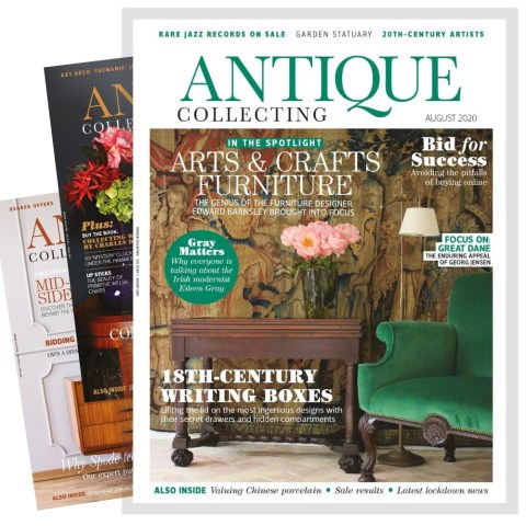 Selection of Antique Collecting magazine covers