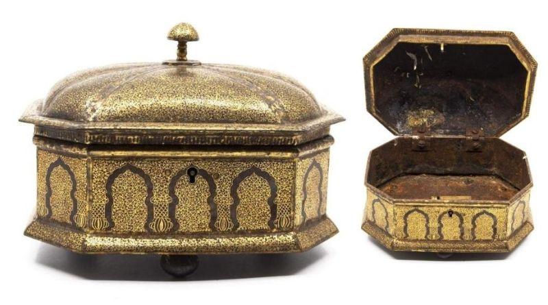 Antique Indian tin box