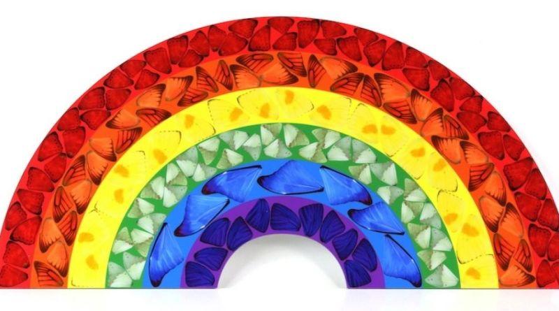 Damien Hirst rainbow print