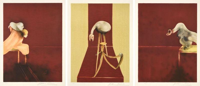 Francis Bacon triptych print