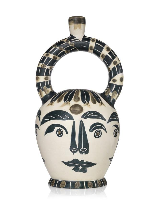 Pablo Picasso, Vase aztèque aux quatre visages, 1957