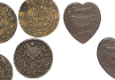 A selection of 17th-century trade tokens