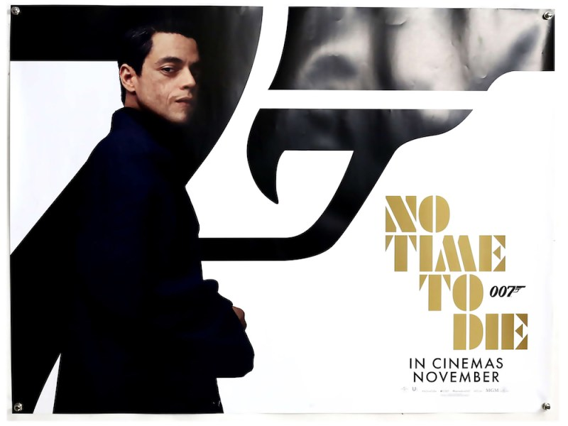 James Bond film poster for No Time To Die