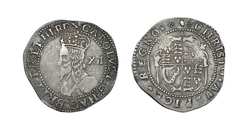 Charles I shilling in recent coin sale