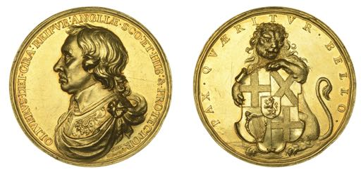A 17th-century Lord Protector medal