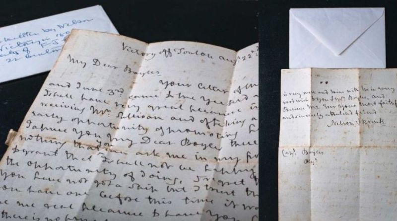Nelson letter in Dawsons sale