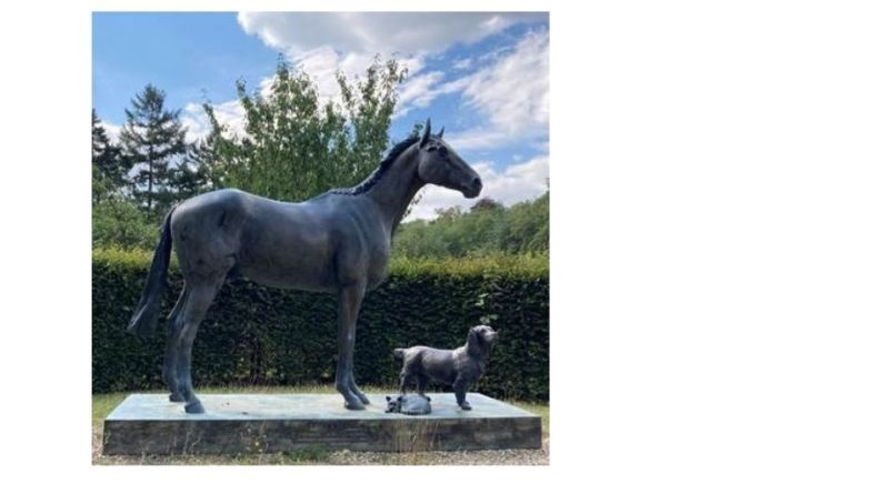 life-size bronze of the renowned racehorse 'Lord Gyllene'