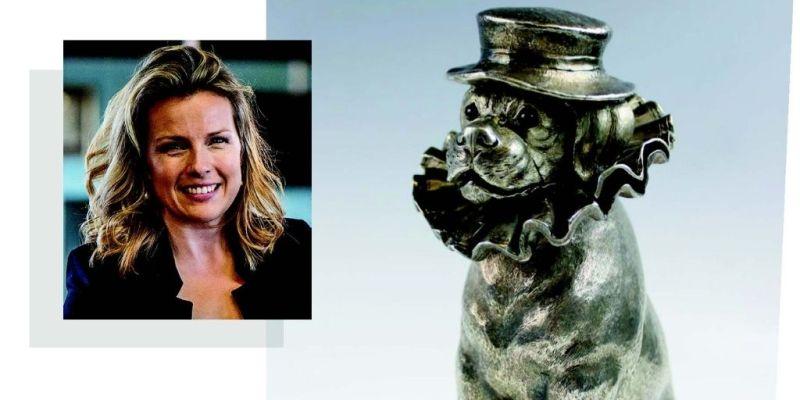 Christina Trevanion and a silver claret jug