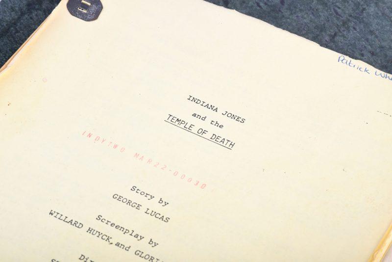 A script for the George Lucas film, Indiana Jones