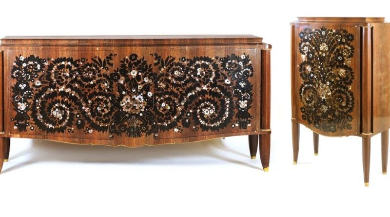 Jules Leleu cabinet and commode