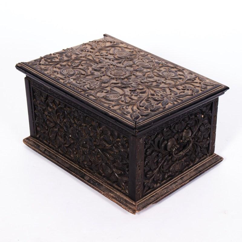 An Anglo-Indian ebony box