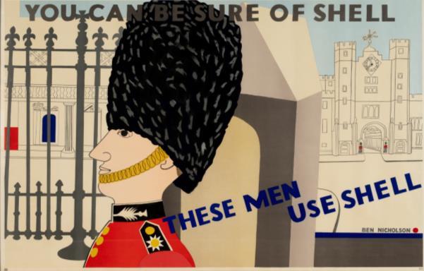 Ben Nicholson Guardsmen use Shell motoring poster
