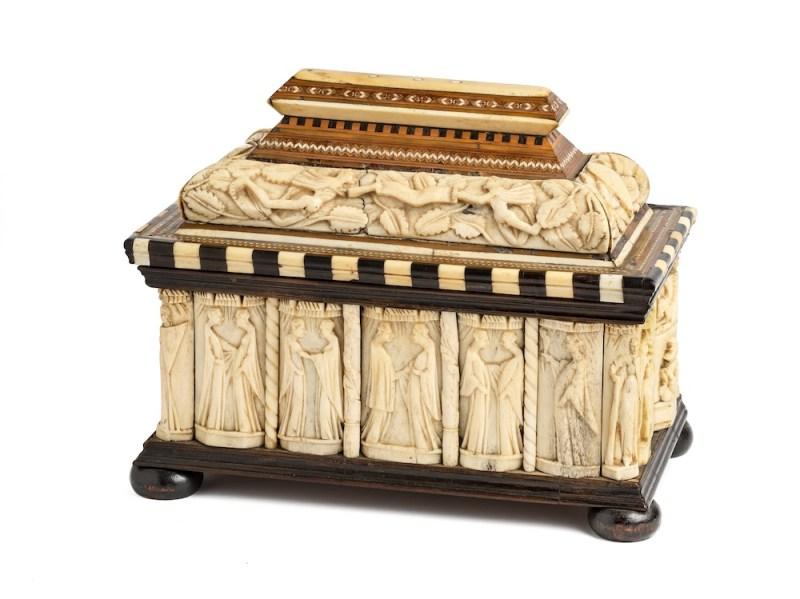 Italian 15th-century 'Embriachi' marriage casket