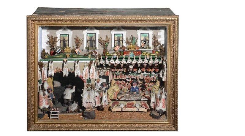 Victorian butcher shop model