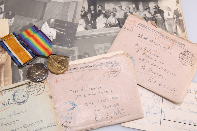 Wartime love letters sent to Gwen Johnson of Hartlepool