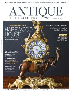 March 2018 cover of Antique Collecting