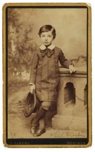 Photograph of young Albert Einstein