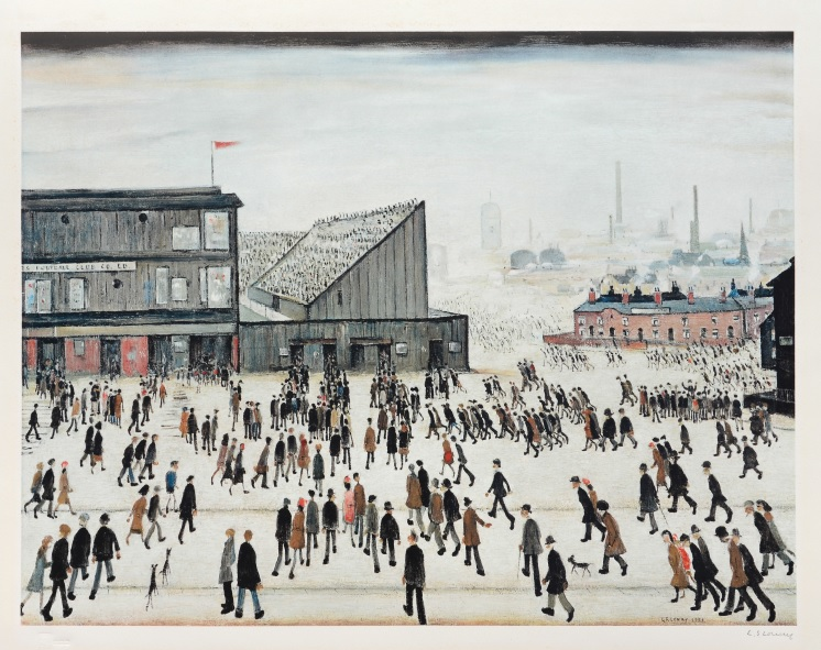 Going to the March - LS Lowry