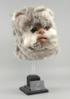An Ewok head, assembled from original production items from Star Wars' Return Of The Jedi, carries an estimate of between £6,000 and £9,000