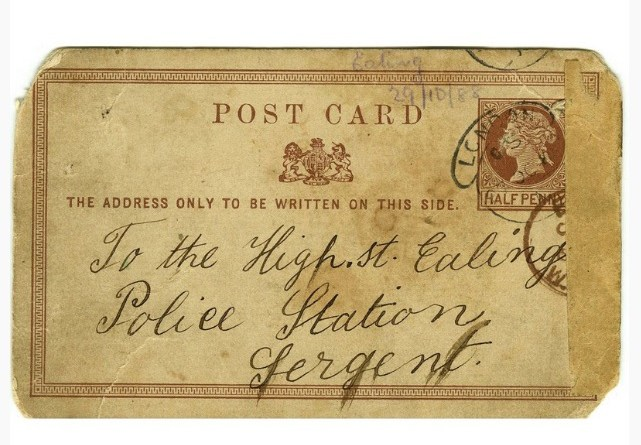 Letter address on the Jack The Ripper letter