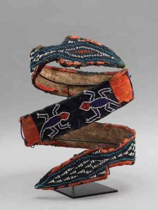 Tribal Art - double headed snake belt