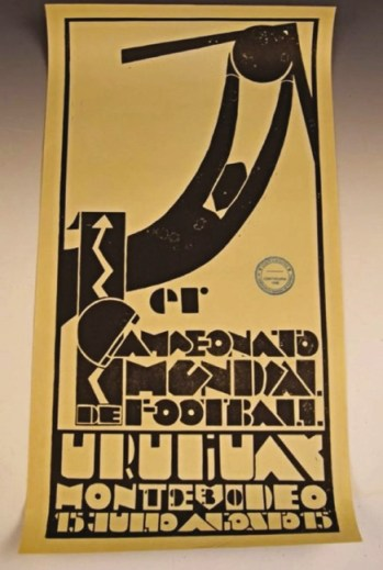 The 1930 World Cup poster