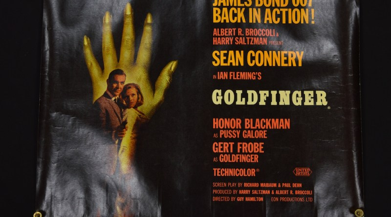 Vintage James Bond Goldfinger poster