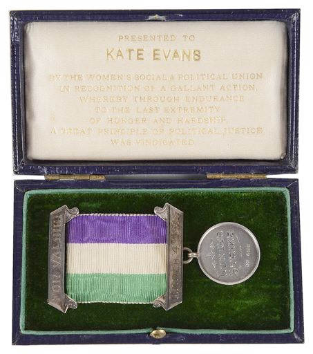 The Suffragette collection in the sale includes a Hunger Strike Medal